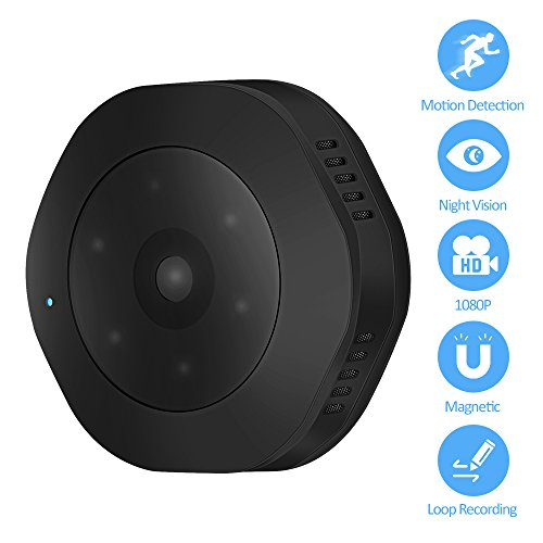 Ankuka Mini Spy Hidden Camera,1080P Portable Small HD Nanny Cam with Night Vision and Motion Detective, Indoor Covert Security Camera for Home and Office (Black3)