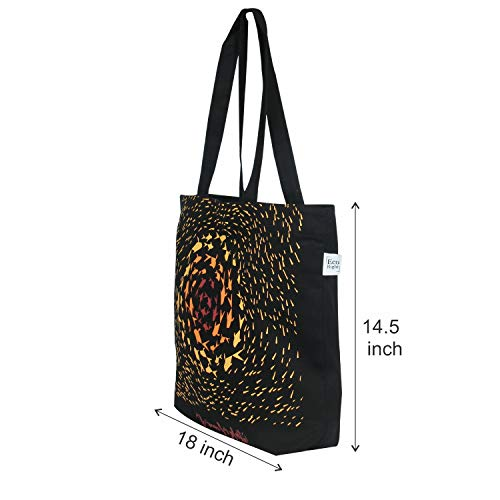 EcoRight Canvas Handbags for Women   Zipper Tote Bag for Grocery, Shopping, Travel, Beach   Shoulder Bags for Women