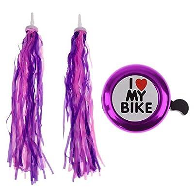 AlvisHa Bicycle Bike Streamers Tricycle Kids Girls Handlebar Grips Tassels + Bell : Sports & Outdoors