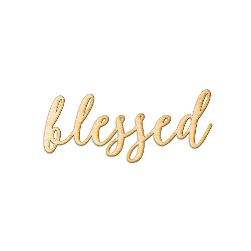 Blessed Modern Calligraphy Woodums Wood Sign Home Décor Wall Art for Gallery Wall – Unfinished 24″x10″ Review