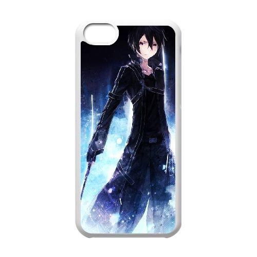 Sword Art Online coque iPhone 5c cellulaire cas coque de téléphone cas blanche couverture de téléphone portable EEECBCAAN08176