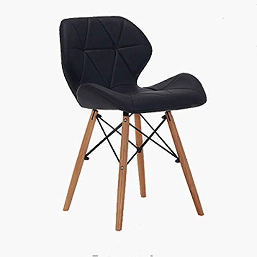 Black Home Modern Casual Restaurant Chair Simple Leather Chair Computer Chair Home Back Chair Bar Chair (color   bluee)