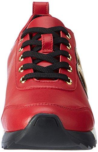 Love Moschino Damen W.sneakers Mehrfarbig (rosso / Oro)