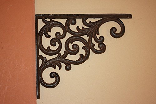 Southern Metal Set of 6 Victorian Shelf Brackets Solid Cast Iron Ornate Scroll Corbels, 9 1/4'' x 7 3/4'' Volume Priced, B-23 by Southern Metal (Image #1)