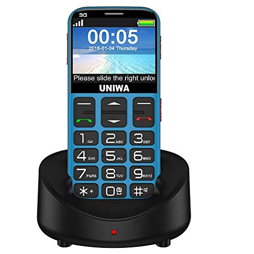 Mosthink Unlocked Cell Phones for Seniors, SOS Senior Phone, Phones for Elderly People Big Buttons & High Volume, Easy-to-Use Cell Phone for Seniors, Cradle Charger Included