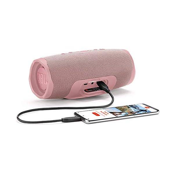 JBL Charge 4 - Enceinte Bluetooth portable avec USB - Robuste et étanche : pour piscine et plage - Son puissant - Autonomie 20 hrs - Rose 6