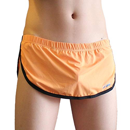 KAMUON Men's Sexy Pouch Thong G-String Boxer Underwear Panties Home Sleep Shorts (US M = Asian Tag L : Waist 31