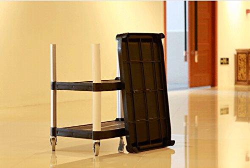 Fixture Displays 3-Shelf Heavy Duty Utility Bus Cart, 350 Ib Capacity, 33