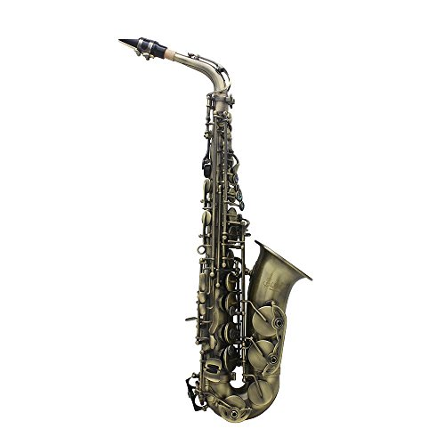 Used, ammoon Antique Finish Bend Eb E-flat Alto Saxophone for sale  Delivered anywhere in USA