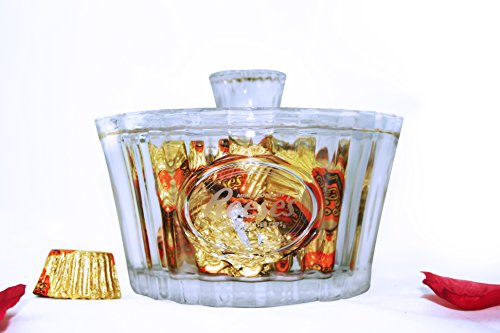 Reeses Crystal Candy Bowl with 6.2 oz. Individually Wrapped Reeses Peanut Butter Cups – Crystal Kiss Gift Set for Valentines Day, Weddings, Anniversary by Gold Label (Image #4)