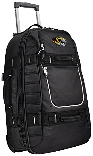 Small University of Missouri Carry-On Bag Wheeled Suitcase Luggage Bags by Broad Bay