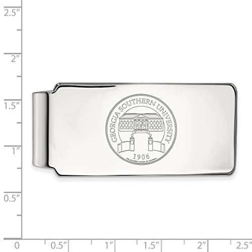 Sterling Official Licensed LogoArt University Crest Collegiate Clip GSU Georgia Southern Silver Money aaqpxTwr6