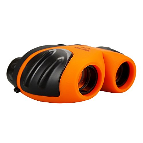 Image of the TOP Gift Toys for Kids, Compact Shock Proof Binoculars for Kids Toys for 3-12 Year Old Boys Girls2018 Christmas Gifts for Kids Boys Girls 3-12 Stocking Fillers Orange TGUSTG5