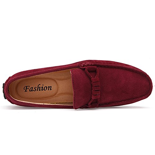 Casual Loafers Slip Go Mens Suede Driving 39 Shoes Moccasins Tour Classic On Red qITBYI