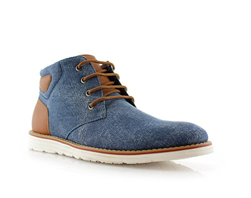 Ferro Aldo Owen Mfa506023 Mens Casual Mid Top Scarpa Per Lavoro O Abbigliamento Casual Blu