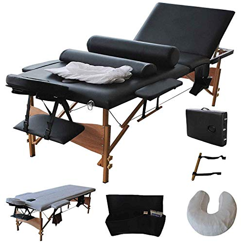 (Giantex Portable Massage Table Facial Bed 3 Fold Section, 32