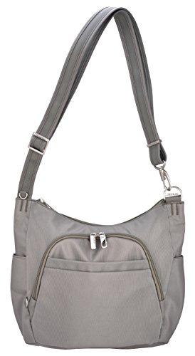 Travelon Anti-Theft Cross-Body Bucket Bag (One Size, Rock)