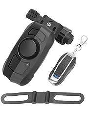 PerGrate Fiets-alarmsysteem, diefstalbeveiliging, oplaadbaar, USB, draadloze afstandsbediening, trillingen.