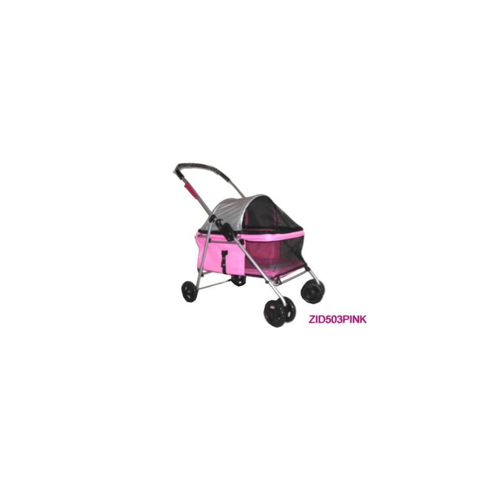 Pet Dog Cat Bed Stroller Carrier Pink 503