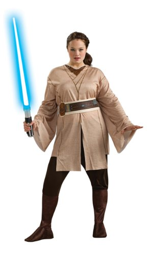 Star Wars Rubie's Women's Plus-Size Adult Jedi Knight, Multicolor, (Plus Size Jedi Costumes)