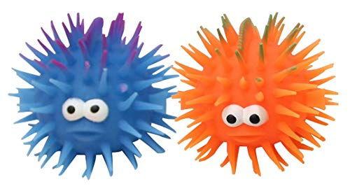 Set of 2 Blow Fish Puffer Ball Toy - Sensory Fidget and Stress Balls - OT Autism SPD