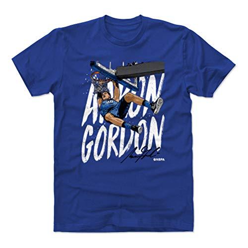 - 500 LEVEL Aaron Gordon Cotton Shirt Medium Royal Blue - Orlando Basketball Men's Apparel - Aaron Gordon Rim Hang W WHT