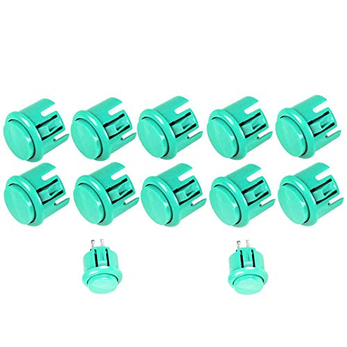 Arcity 12 Pcs Arcade Push Buttons Replace for Sanwa