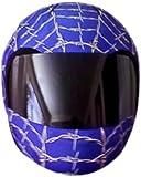 SkullSkins Wired Web Motorcycle Helmet Street Skin (Blue)