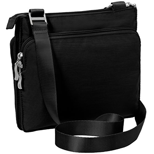 and Bag Multi �C Lightweight Wristlet Baggallini Black Slim Everything Removable Bag Pocketed Sleek Crossbody Travel with qx88XtEH