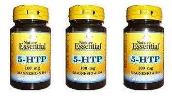 Triptofano 5-Htp + Magnesio + Vitamina B6 100 mg 60 cápsulas
