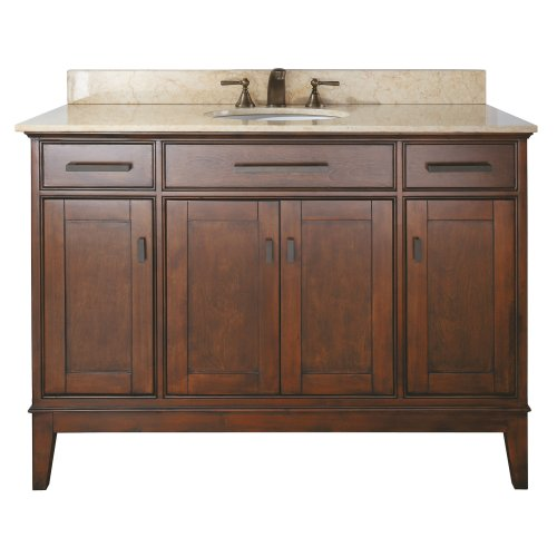 Avanity Madison 48 in. Vanity with Beige Marble Top and Sink in Tobacco finish price