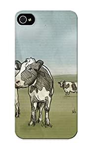 meilinF000ipod touch 4 Hard Back With Bumper Silicone Gel Tpu Case Cover For Lover's Gift Cows On The FieldmeilinF000