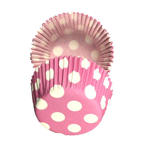 (Pink Polka Dot print Muffin Cupcake Liners Paper case birthday Baking Cups 500 pcs,Standard Size 3