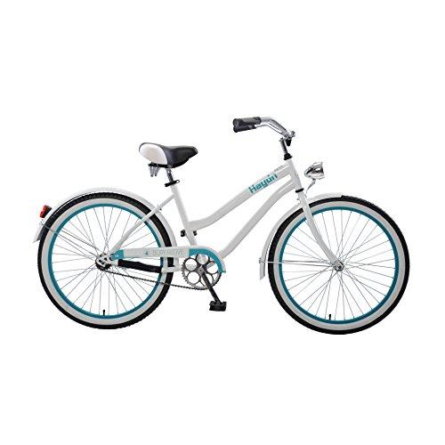 Body Glove Haydn Cruiser Bike, 24 inch wheels, 17 inch frame, Girl's Bike, White/Teal