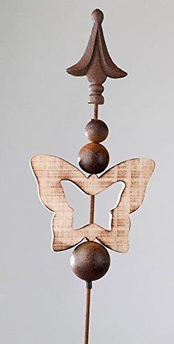 formano papillon métal Prise de jardin en bois 106 cm 561985 ...