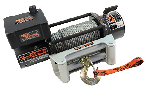 Mile Marker Jeep - Mile Marker 76-50246BW SEC9.5(es) Truck/Jeep/SUV Element Sealed Electric Winch - 9,500 lb. Capacity, 1 Pack