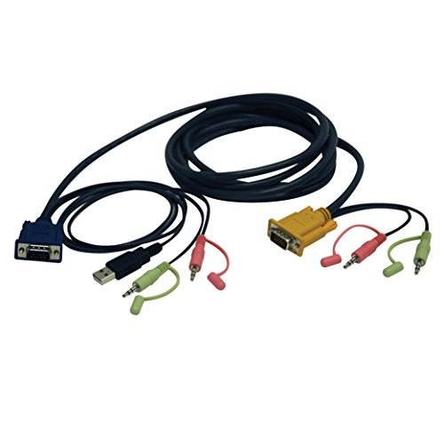 TRIPP LITE VGA/USB/Audio Combo Cable Kit 10-Feet for B006-VUA4-K-R KVM Switch (P756-010)