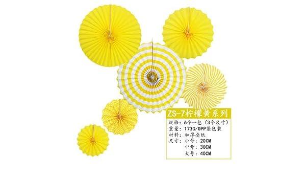 18 piezas ventilador de flores de papel diy conjunto decorativo ...