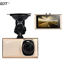 GJT®GT900 Slim Car Camera Vehicle Camera Dash Cam full HD 1080P 170-degree super wide-angle lens+G-sensor Night Vision Car DVR with 3.0 inch Screen 1920X1080,Support Parking Monitoring(GOLD)