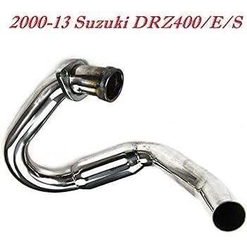 OzCoolingParts 00-13 Suzuki DRZ400/E/S Exhaust Header Pipe - Pro Stainless  Steel Exhaust Head Pipe Header for 2000-2013 Suzuki DRZ400 DRZ400E DRZ400S