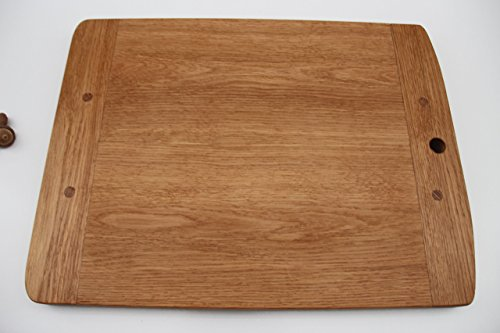 Cutting Board Made of White Oak. A Beautiful Piece Old World Style. A Perfect addition to any Kitchen! Made with Hard Work and Artisan Tools The Old Fashioned Way!