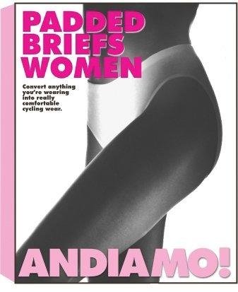 Andiamo Women's Padded Brief SM White by Andiamo