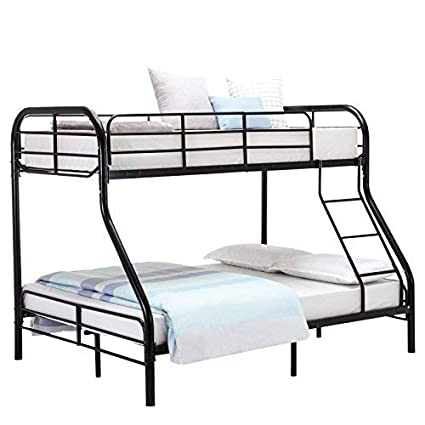 Amazon Com Mecor Twin Over Full Metal Bunk Bed Sturdy Metal Frame