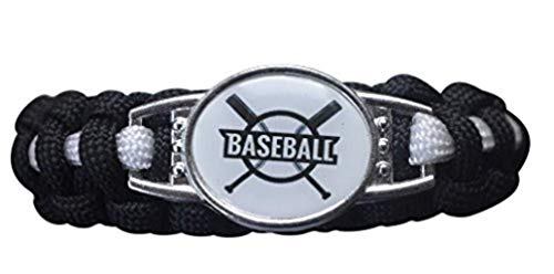 (Infinity Collection Boys Baseball Bracelet, Baseball Jewelry, Adjustable Baseball Paracord for Kids, Perfect Baseball Gifts for Kids)
