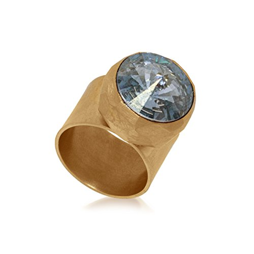 Charlotte Valkeniers - Bague - Plaqué or - Cristal - T54.5 - Facet Swarovski Ring G - Small