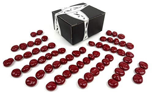 Marich Pastel Chocolate Cherries, 1 lb Bag in a BlackTie Box