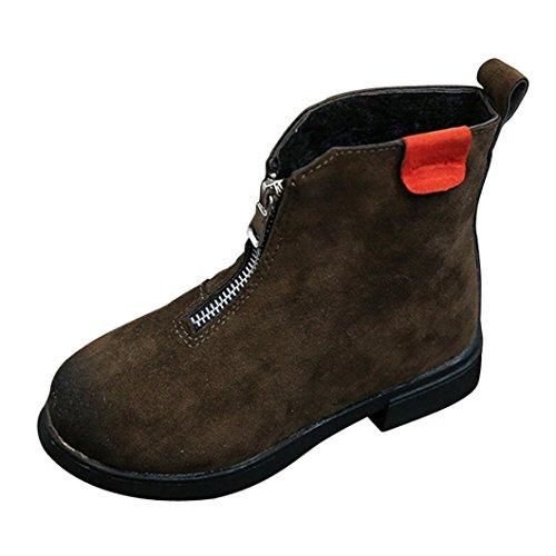 Huhu833 Kinder Mode Mädchen Stiefel Retro Style Martin Sneaker Winter Dicken Schnee Stiefel Freizeitschuhe Grün