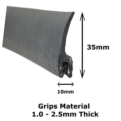 Large Vertical Fin rubber car edge protective trim seal 53mm x 10mm