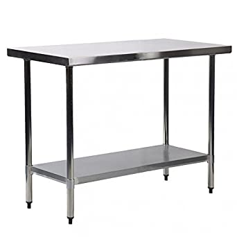 30u0026quot; X 24u0026quot; Stainless Steel Kitchen Work Table Commercial Kitchen  Restaurant Table