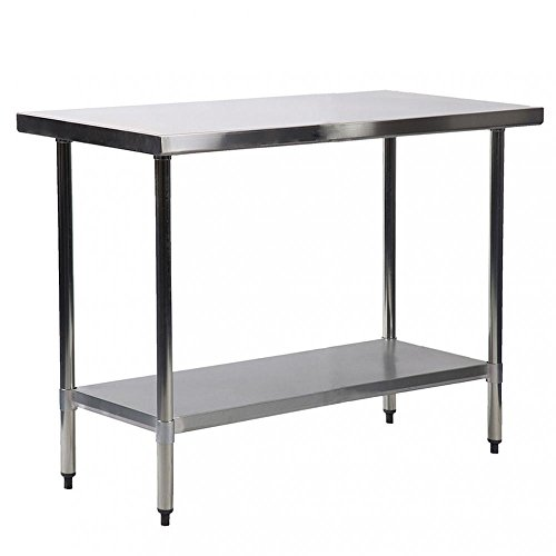 30'' X 60'' Stainless Steel Kitchen Work Table Commercial Kitchen Restaurant table by BestMassage